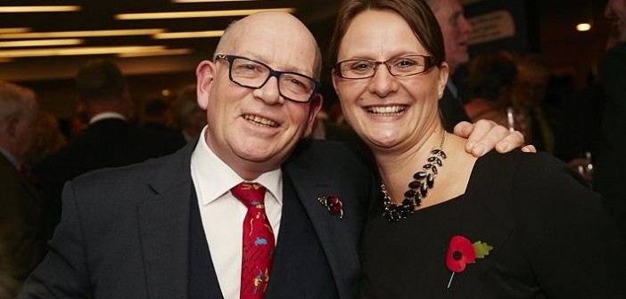 Lewis Business Media managing director John Lewis and National Pig Awards producer Emma Hooper