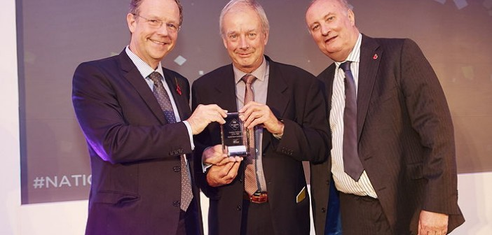 Outdoor Producer of the Year – sponsored by ForFarmers. Won by North Farm Livestock, based in north Norfolk, which produces 1,600 high-welfare free-range pigs each week for Waitrose – something it's been doing for the past 15 years. Pictured are (left to right): ForFarmers' pig, poultry and specialist feeds business unit director, Jonathan Farnhill, Roger Newton and Alan Dedicoat