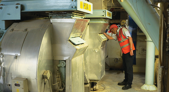 The business end of Bury mill. These two pelleters can be set up to produce pellets from 6mm in diameter down to the 2mm pellets used for the VIDA range