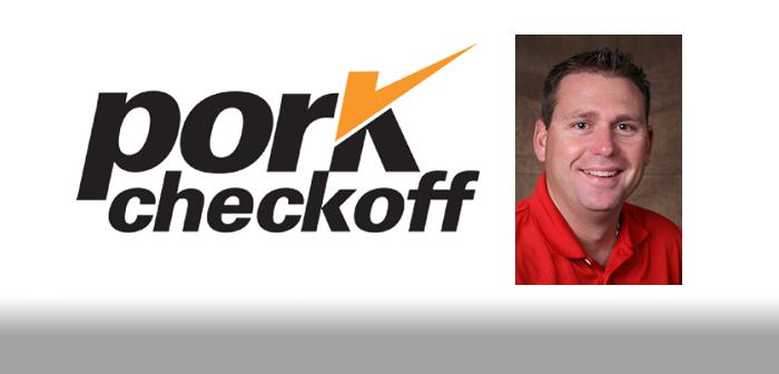 Pork checkoff President Derek Sleezer