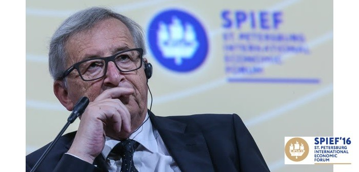 EC President Juncker + St Petersburg June 16