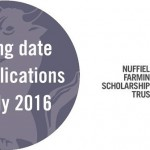 Nuffield deadline 2016