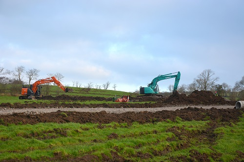Diggers are now on site at 15,000-pig unit