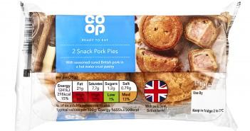 Co-op 2 Snack Pork Pies