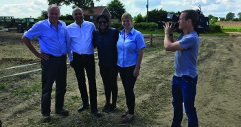 AHDB Pork's Charlotte Evans and pig producer Simon Watchorn share the story with the BBC team