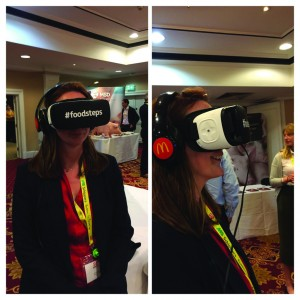 NPA's Zoe Davies was given the on-farm virtual reality experience