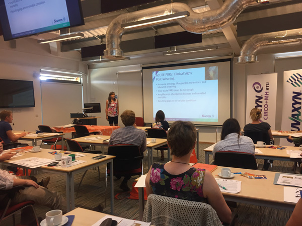 Laura Hancox at the PRRS meeting