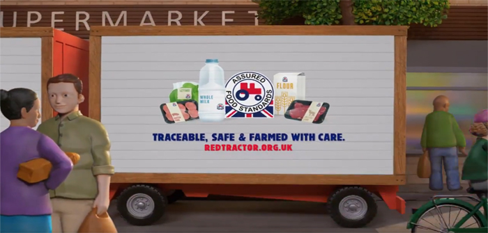 Red tractor TV advert