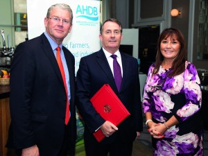 AHDB chair Sir Peter Kendall, LF, AHDB chief exec Jane King