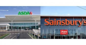 Asda and Sainsbury's montage