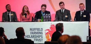 Georgina (second left) with other Nuffield Scholars, including York pig farmer Hugh Shedden (right)