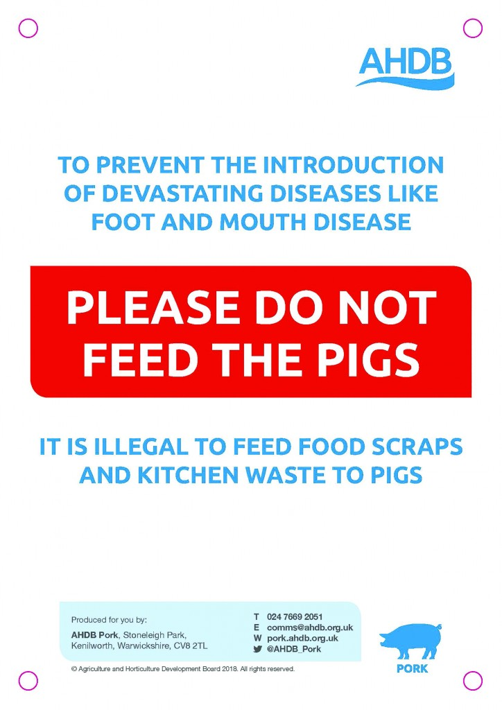 Signs warning the public are available from AHDB