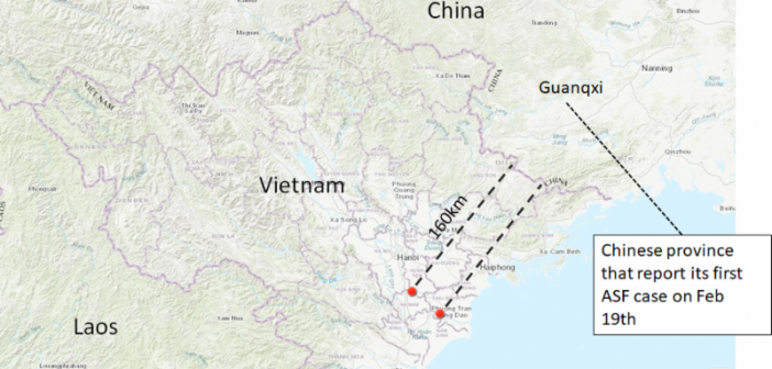 ASF vietnam map