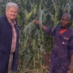 Michael Maguire, Devenish's East African director (left) and William Isoke, Devenish's feed mill supervisor