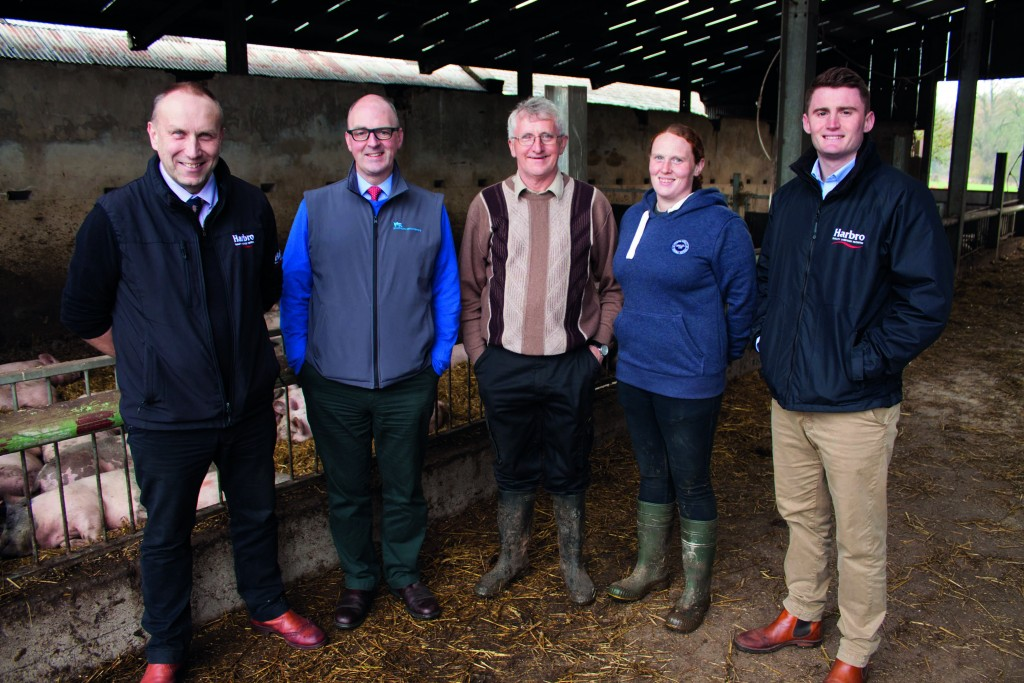 From left: Iain Lyle, Harbro; Andy McGowan, SPP; Wilbert and Jennifer Hall; and Will French, Harbro