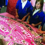 A giant pig jigsaw is ideal for teaching schoolchidlren where their food comes from