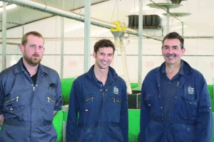 Industry consultant Dominic Charman, Charlie Thompson and unit manager Andy Brown