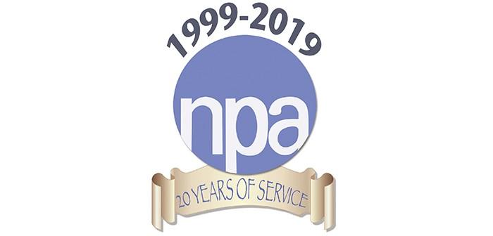 NPA 20th anniversary logo