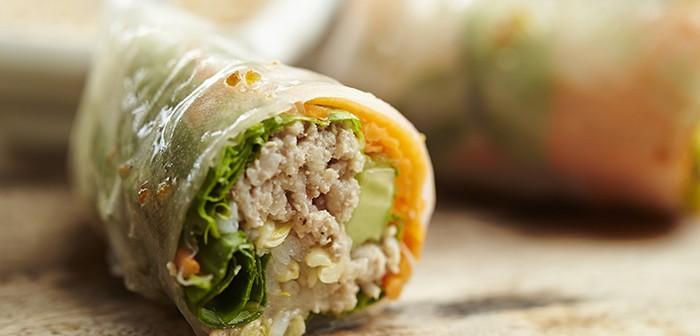 Vietnamese pork fresh spring rolls