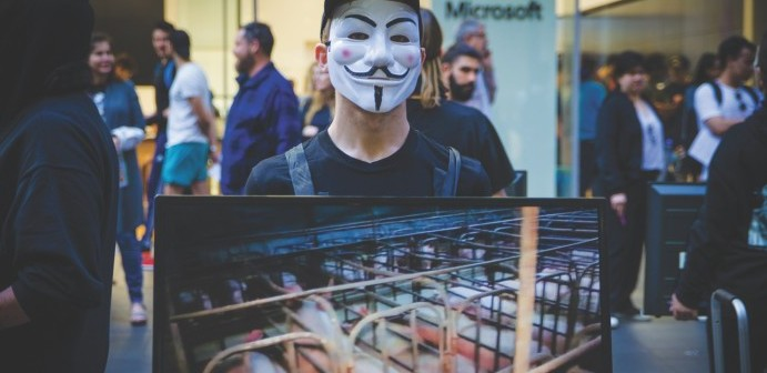 Australian activist in Sydney