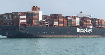 Container ship in the South China Sea