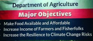 Philippines Department of Agriculture objectives