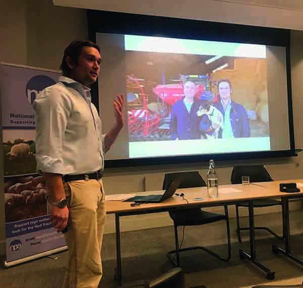 Joe showed a slide of Ben Goldsmith's visit to the farm