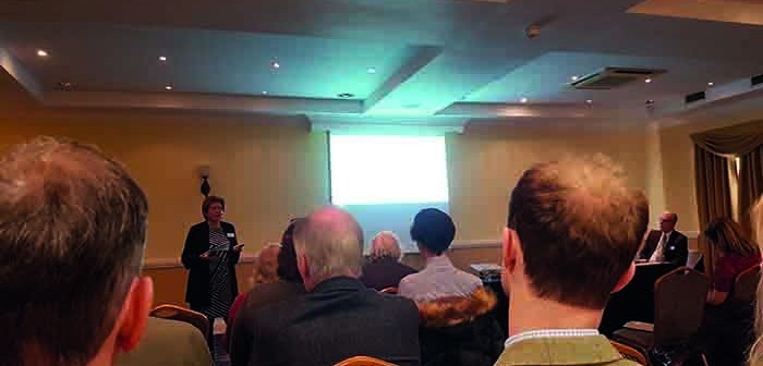 Meryl Ward addresses the Nottingham Farming Conference
