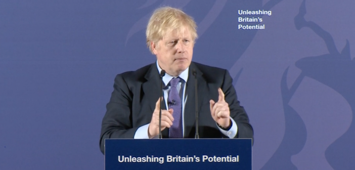 Boris Johnson speech, Greenwich