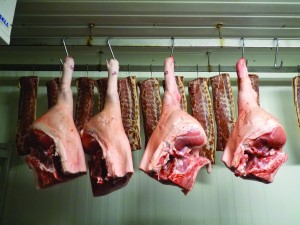 The Thompsons sell 15% of the unit's pork through the butchery. Credit: www.justfarmers.org.uk