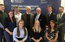 Recent pig industry scholars receiving their certificates at Harper Adams University