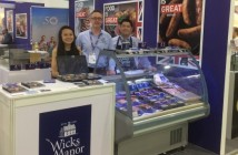 Fergus Howie with Wicks Manor distributors for Singapore and Hong Kong