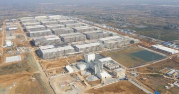 Muyuan Food multi-storey pig farm; via Reuters
