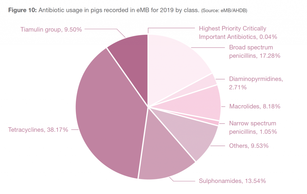Antibiotic usage by class