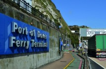 Entrance,To,Port,Of,Dover,Ferry,Terminal,With,Large,Lorry