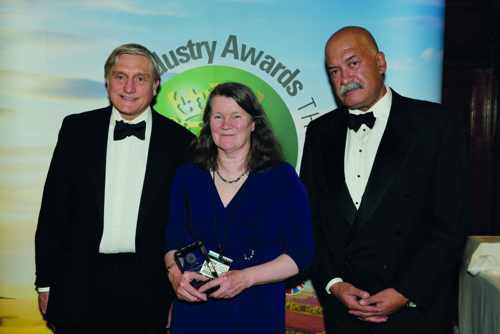 Sandra Edwards was presented with an Outstanding Contribution to Farming Award at the 2017 Food and Farming Industry Awards at the House of Commons in recognition for her 'immense contribution'