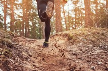 Athlete,Running,Along,The,Forest,Trail.,An,Active,Way,Of