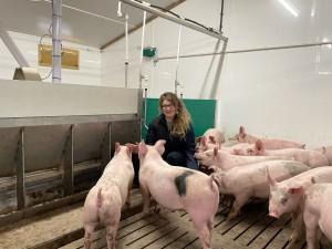 Cargill research coordinator Clare Gaukroger in the new unit