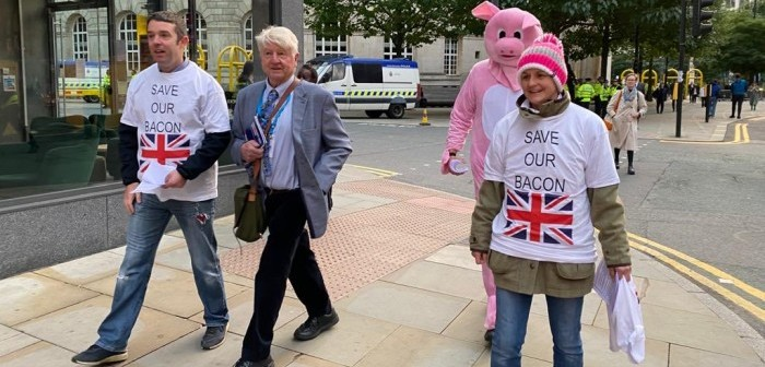 pig protest Berkshire Johnson Morgan